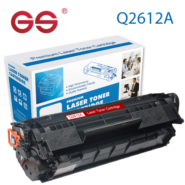 GS Fabrikant Tonercartridge Q2612A Compatibel voor HP Laser printer