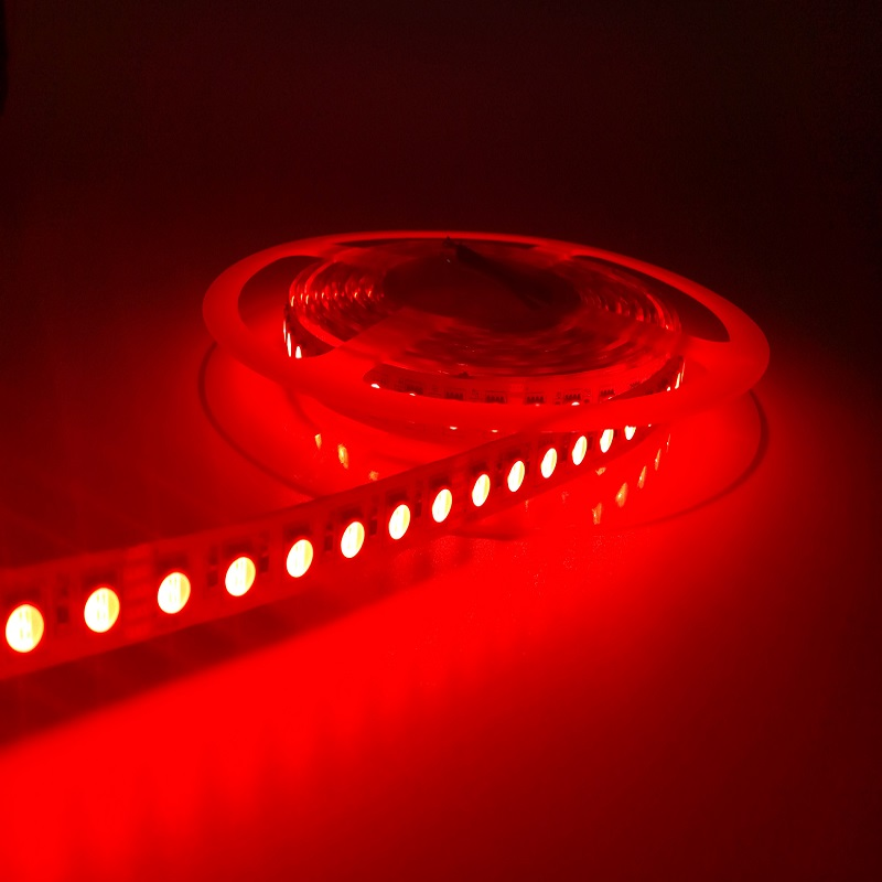 High Quality and Brightness 60LEDs/M DC24V SMD5050 72W/Reel RGB Color IP20 Non-waterproof LED Flexible Strips