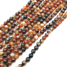 Natural Yellow Brown Agate from 3mm to 14mm Semi-Precious Stone Beads For DIY Jewelry Making