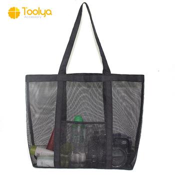 411bd0195 Beach Swim Mesh Tote Hand Duffle Bag Wash Shower Bag Workout large mesh bag