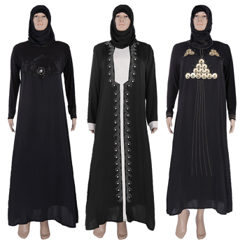 2017 Fashion Ladies Latest Muslim Women Dubai Black Abaya