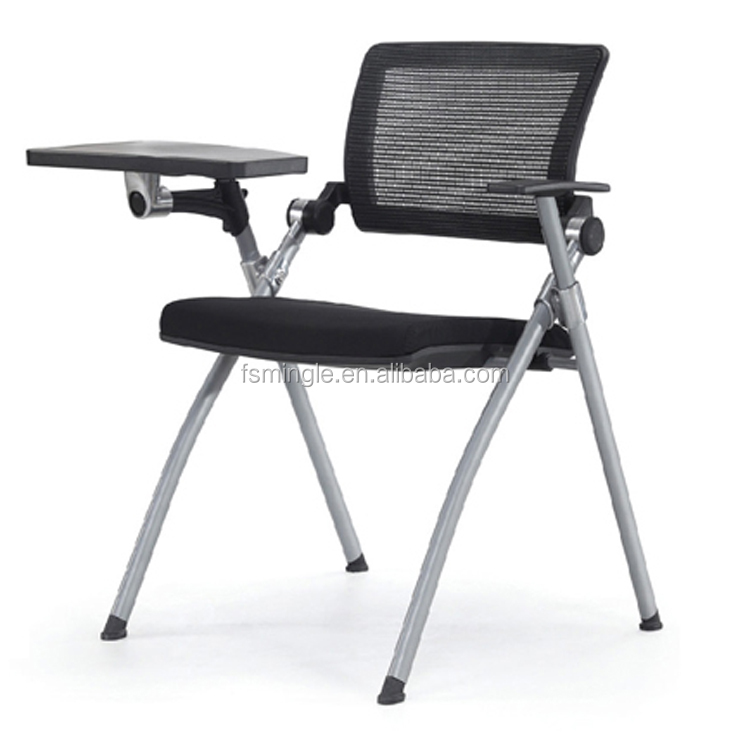 high quality metal folding <strong>chair</strong> office study <strong>chair</strong> with writing pad