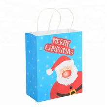New Classic Colorful Printing Paper Christmas Gift Bag