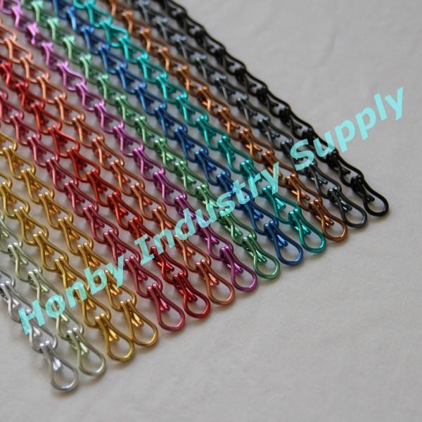 Fashion Design 12mm Colorful Double Jack Links Aluminum Hook Chain - Buy  Hook Chain,Aluminum Hook Chain,12mm Aluminum Hook Chain Product on