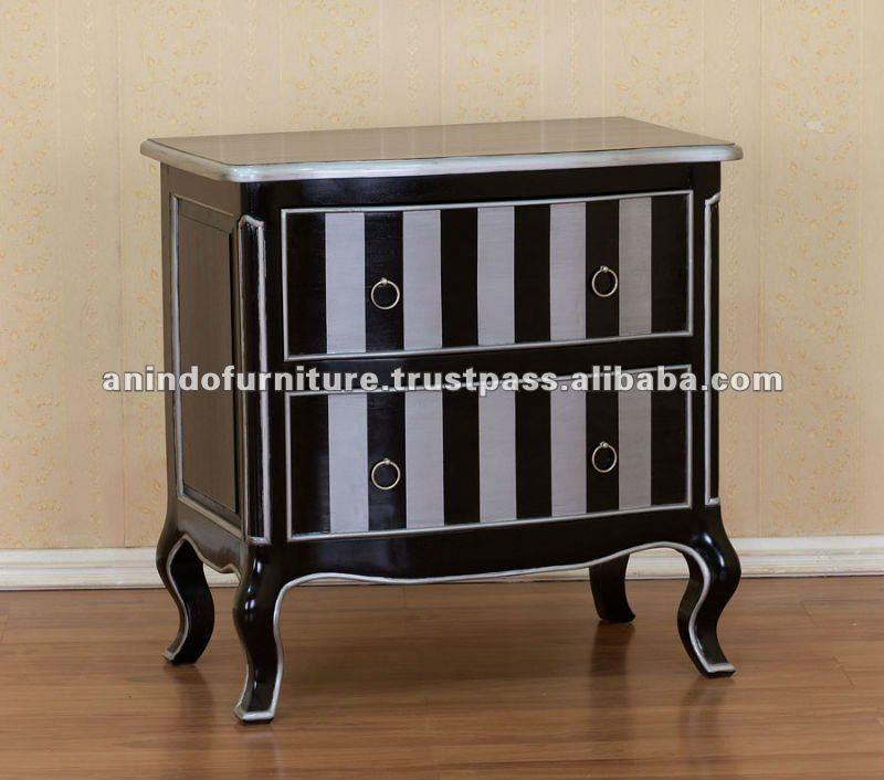 Franc s muebles pintados de negro y plata inodoro otros muebles antiguos identificaci n del - Muebles pintados en plata ...