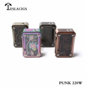 Trending products 2018 Teslacigs Punk 220W vape mods from E cig wholesale china