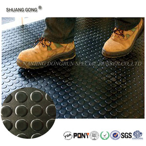 NANJING DONGRUN Factory wholesale price Custom high quality round dot rubber sheet rolls / rubber floor roll