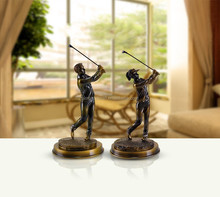 USA Resin Golf Statue 3D Models Home Decor With Gold Red Gold Black