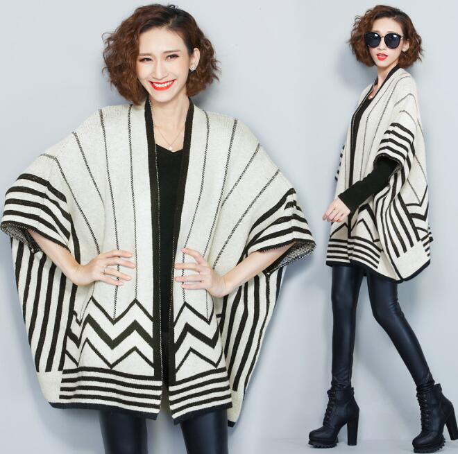 2017 winter Latest design cashmere knitted long women cardigan for ladies