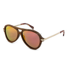 Handcrafted Colored Rose Wood Mirror Sunglasses Branded Sunglasses