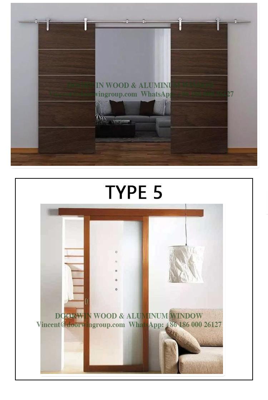Modern Style Wood Carved Designs Interior Barn Door Window Indian