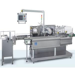 PLC Auto horizontal carton packing machine manufacturer at GMP, ISO and CE grade