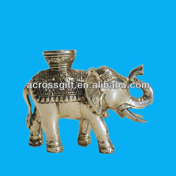 polyrsein elephant candle holder