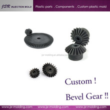Custom high precise mini / small nylon spiral bevel gear