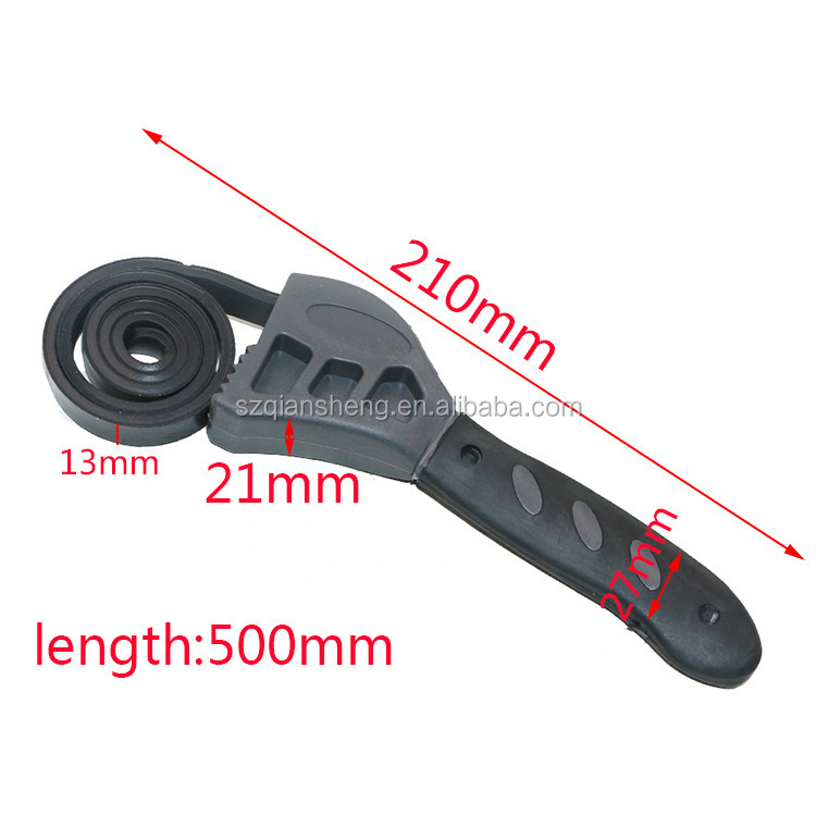 500mm  Adjustable Rubber Strap Wrench for Plastic Automotive Oil Filter