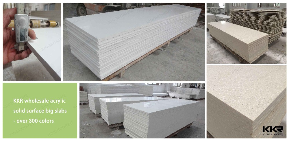 Pure White Solid Surface Bathroom Wall Sheet - Køb-7531