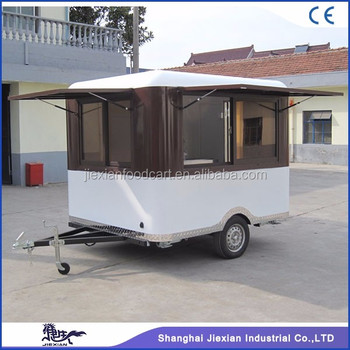JX FS250R Jiexian Fashion Design Street Mobile Fiberglass Coffee Shop Trailer For Sale With CE