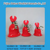 2016 Christmas reindeer designed ceramic Christmas bell for decro