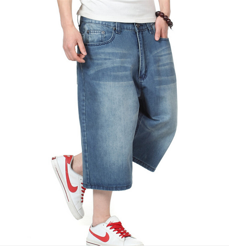 8b443905638 Get Quotations · Hip Hop Mens Baggy Pants Denim Jeans Shorts for Mens 2015  Summer Style Skateboard Shorts Plus
