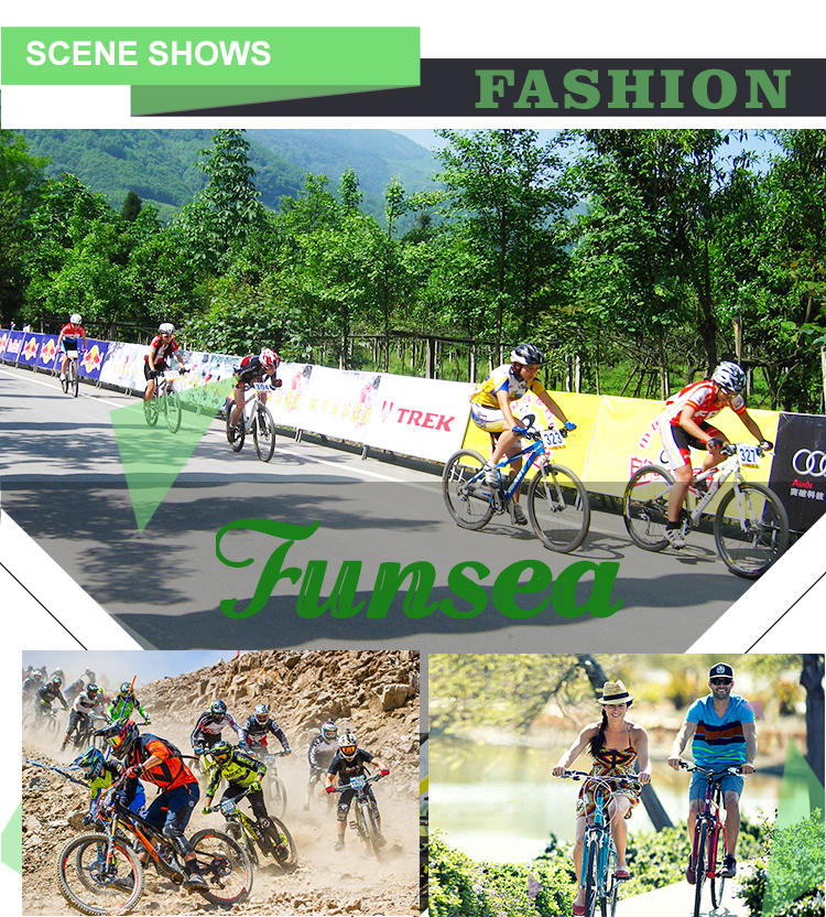 "Funsea customized logo 24"" racing downhill steel frame 21 speed full suspension mtb bicycle bicicletas mountain bike for men"
