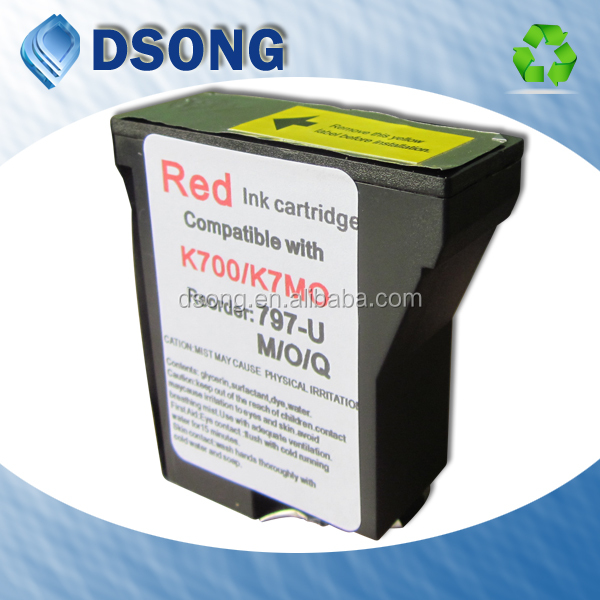 Fluorescent & Non Fluorescent ink for Pitney Bowes Mailstation K705 postage machine, K700 stamp machine