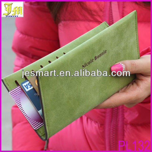 Wholesale 2014 Latest Design Ladies Purse Long Pu Clutch Wallet Purse For Women