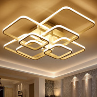 Square/Rectangle Shape Chandelier Ceiling Lamp Modern Minimalist LED Decorative Indoor Lighting MD85007