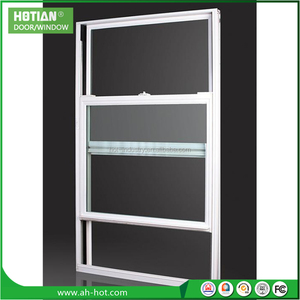 China Architectural Glazing Vertical Sliding Sash Windows Modern Standards Aluminum Double Hung Window Design