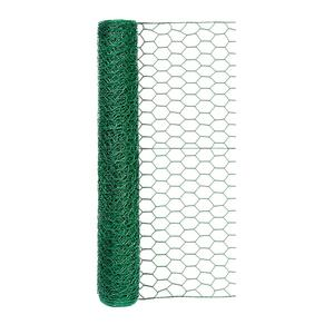 Origin Point stainless steel 20-Gauge 1-inch Green Vinyl Hex Netting 24inx25ft fence for chicken or animal feed