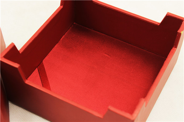 Customized Size Display Wooden Coin Box with Velvet Insert