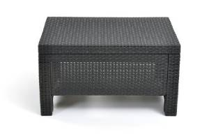 Keter Corfu Coffee Table New All Weather Outdoor Patio Garden Backyard Furniture, Charcoal by Keter