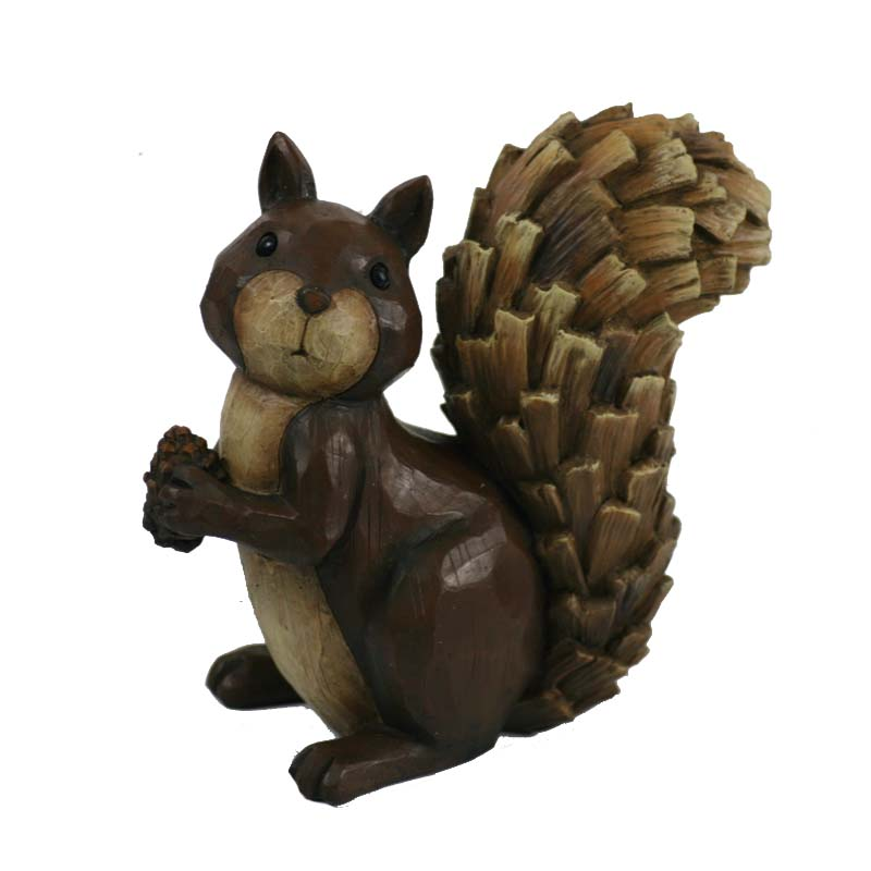 Cheap resin fall squirrel decoration crafts