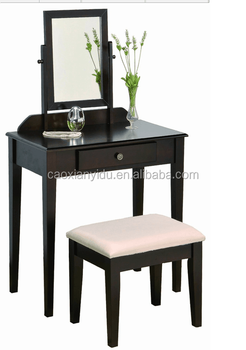 2017 Style One Drawer Simple Dressing Table with Mirror