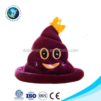 a16f19ad54bb1 OEM Design Halloween Funny Hat Emoji Smiley Winter Cap LED Witch Hat For  Children Adults
