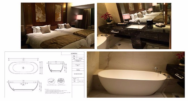 High Quality Pg Cast Stone Solid Surface Round 120cm Bathtub - Buy ...