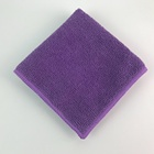 "Purple color microfiber terry cloth12""*12"" kitchen cloth,high water absorption cleaning cloth"