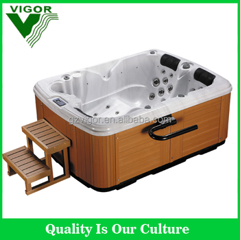 Pool type oval metal frame swimming pool hot tub side for Types of hot tubs