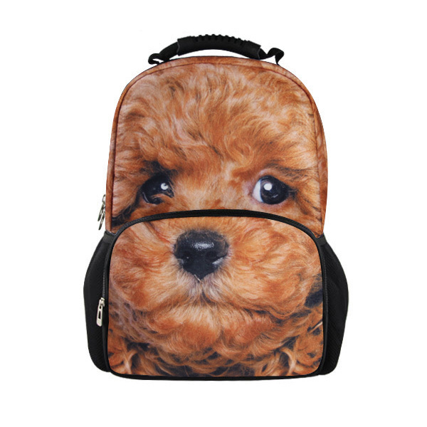 Fashion 3D Dog Head Printing Children School Backpacks College Students Bagpack Women Men's Travel Backpack Cat Panda Mochila
