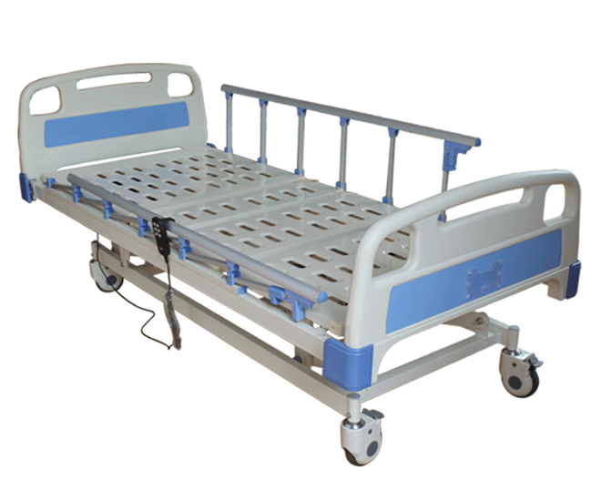 AC-EB050 aluminum side rails patient bed electric abs hospital bed with three functions in stock