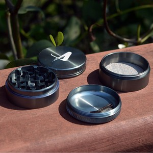 "63mm 2.5"" 55mm 2"" 4 parts 2 layers electric herb grinder pre rolled cones with oem gift packing,carry bag, plastic scraper"