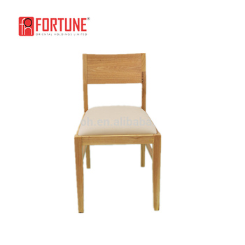Simple Leather Upholstered Restaurant Chairs/Cafe Chairs/Canteen Dining  Chairs For Sale(FOH
