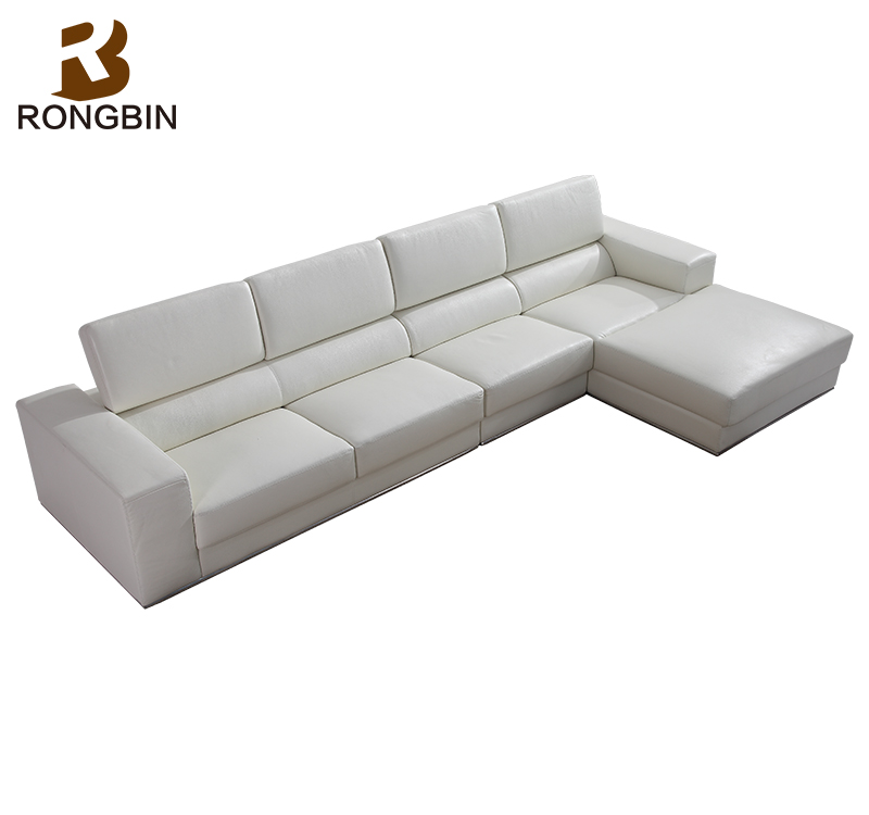 Modern Design L Shape Sofa,Latest Corner White Leather Sofa For