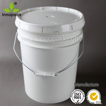 Wholesale 5 gallon plastic paint bucket pail with lid and for 5 gallon bucket of paint price