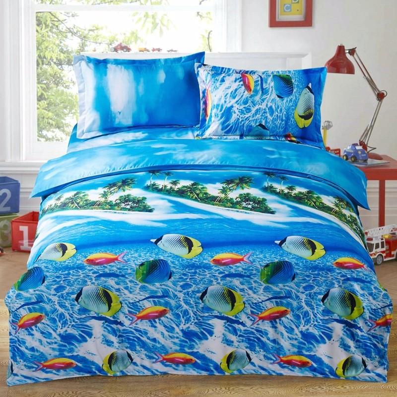 Wholesale Amazing 3d Dolphin Bedding Set Queen Size Duvet