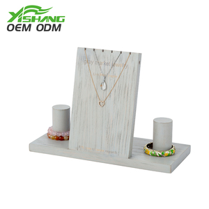 Customized supplier wood jewelry necklace display stands