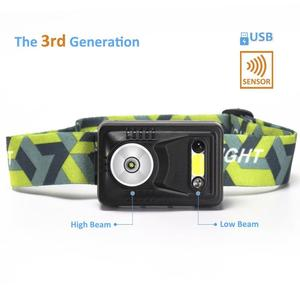 Rechargeable Running Head Torch with Motion Sensor