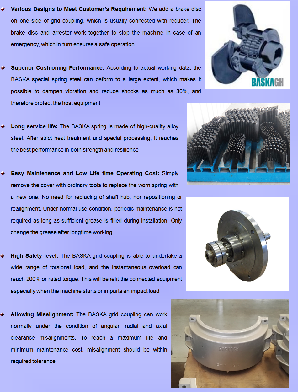 High Quality Economic Grid Coupling With Brake Disc