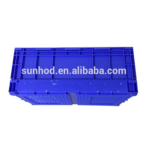 Hot sale Reusable durable Stuffiness solid folding plastic crates for sale