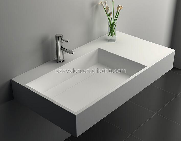 Solid Surface Acrylic Integral Lavatory/bath Sink And Counter Basin ...