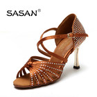 Hot Sell Woman Dance Shoes Top Quantity Rhinestone Woman Classic Latin Dance Shoes S-125